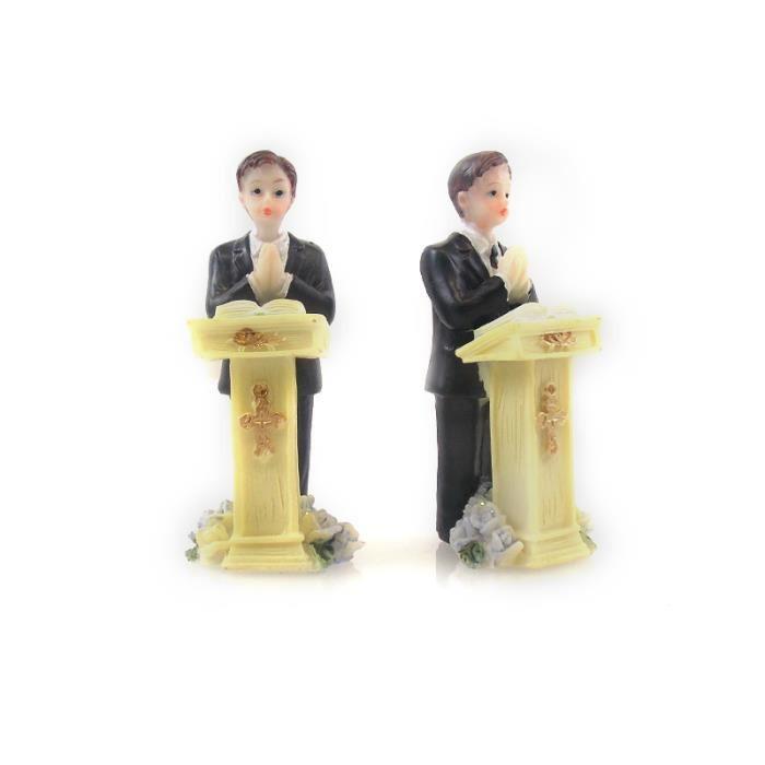 Figurine Communion Garçon Pupitre