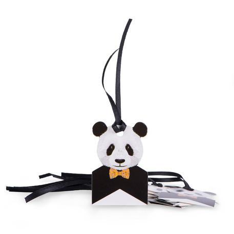 8 x Etiquette Panda