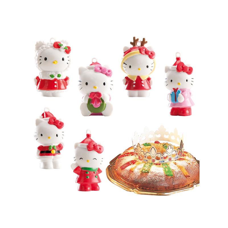 6 figurines galette des rois hello kitty for Decoration galette des rois