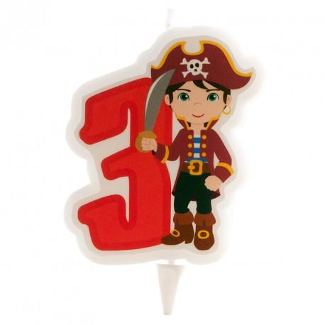 Bougie pirate garçon n°3