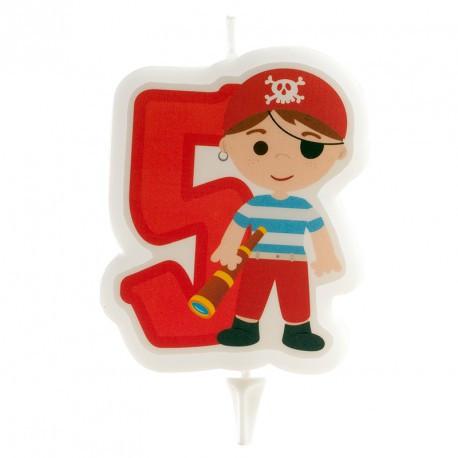 Bougie pirate garçon n°5