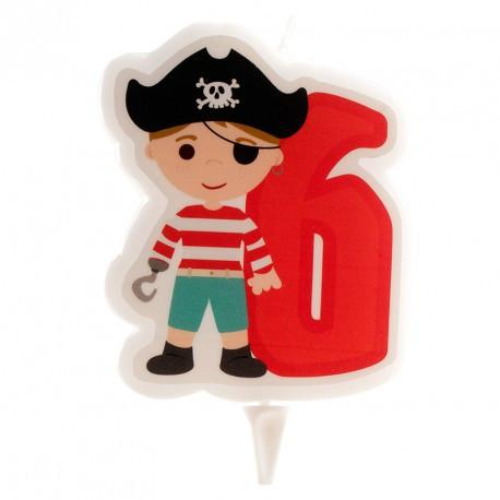 Bougie pirate garçon n°6