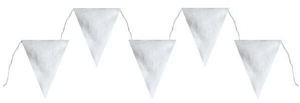 Banderole fanions métallisés - argent