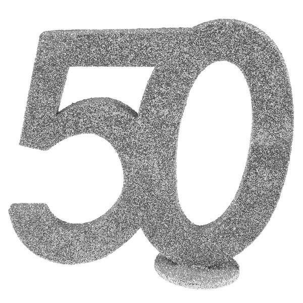 D coration chiffre anniversaire 50 ans argent for Decoration 50 ans