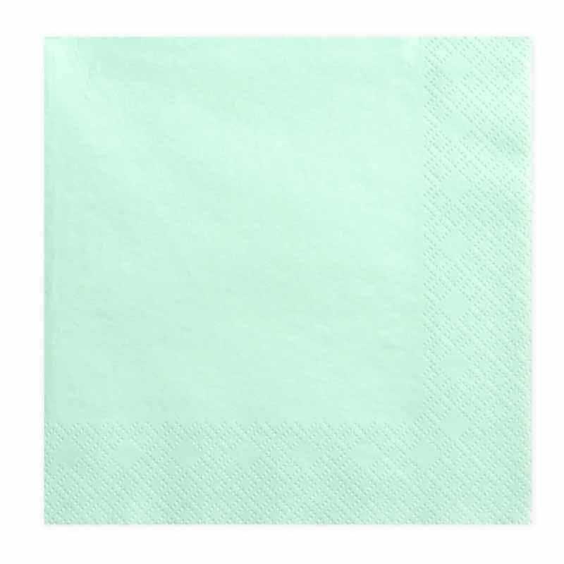 20-serviettes-papier-vert-menthe