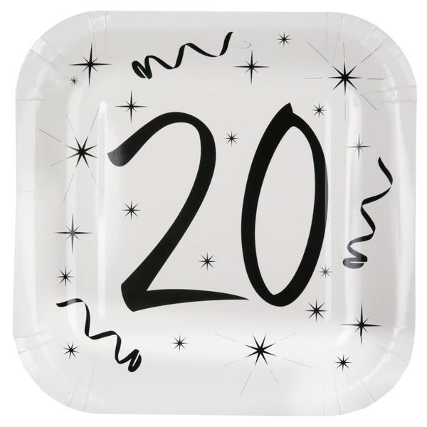 10 Assiettes anniversaire 20 ans