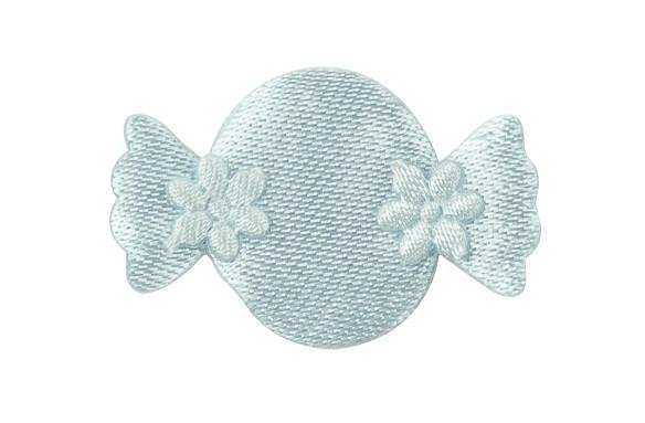 12 Petites décorations bonbon bleu