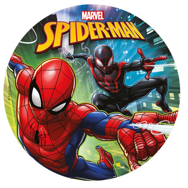 disque à gâteau Spiderman et Spiderman noir