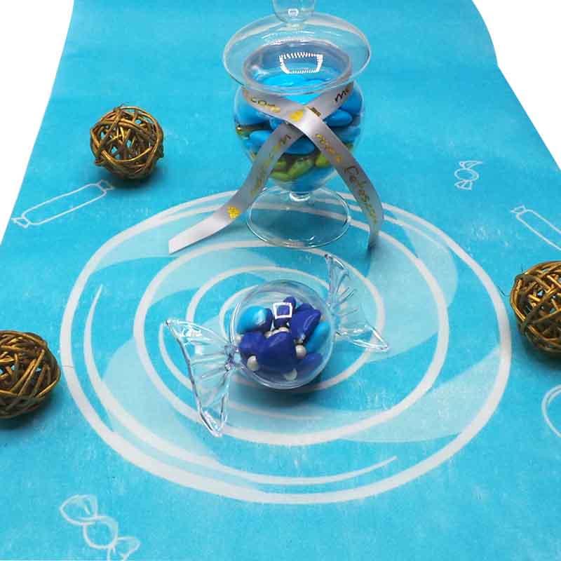 Chemin de table Candy Bar Bleu Bonbon