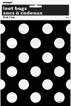 8 pochettes à pois Candy Bar - noir