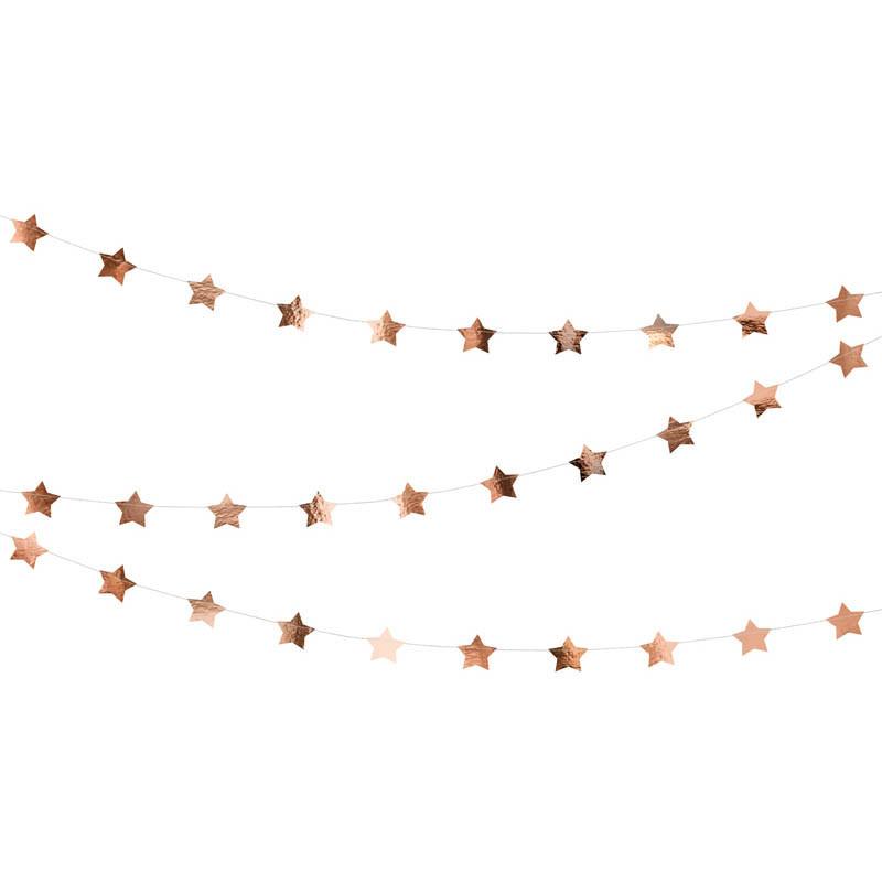 Guirlande étoile Rose Gold 3.6 m