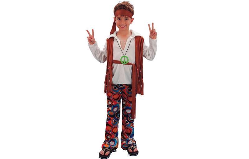 Déguisement garçon hippie marron