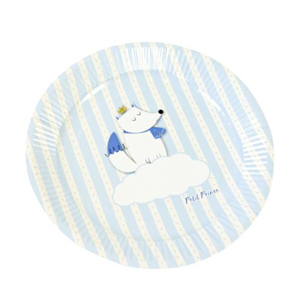 x6 Assiettes Bleu Babyshower