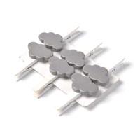 6 pinces blanches nuage gris