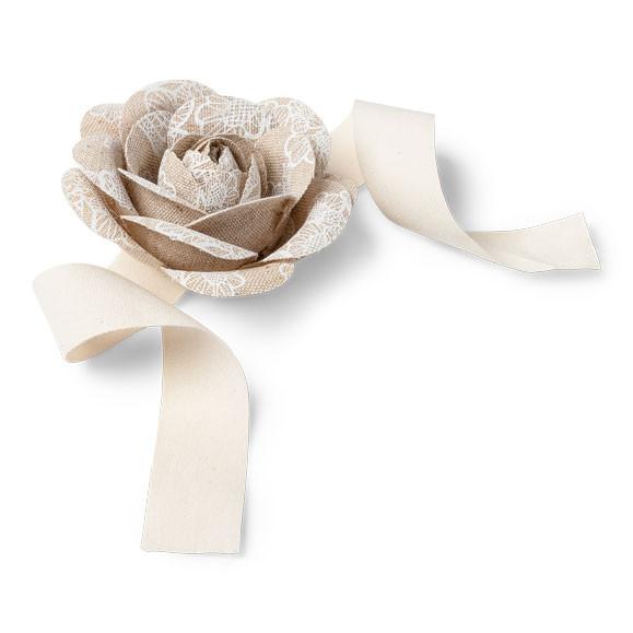 fleurs rubans lin