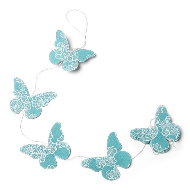 Guirlande papillons émeraude - 1.20m