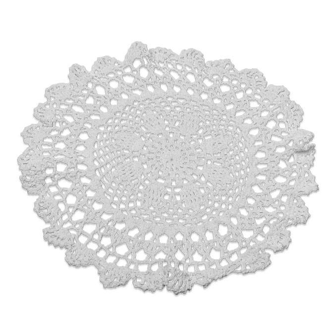 napperon crochet 30 cm blanc