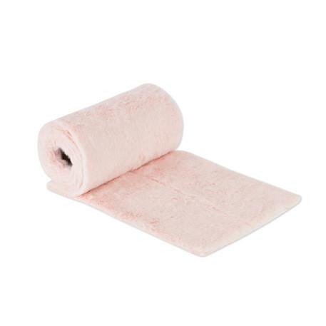 Chemin de table peluche rose 15cm x 2m