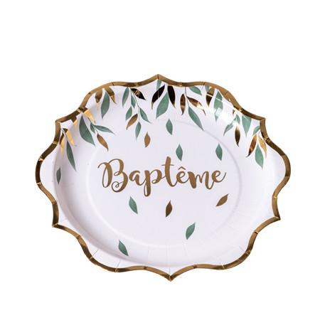 assiettes baptême