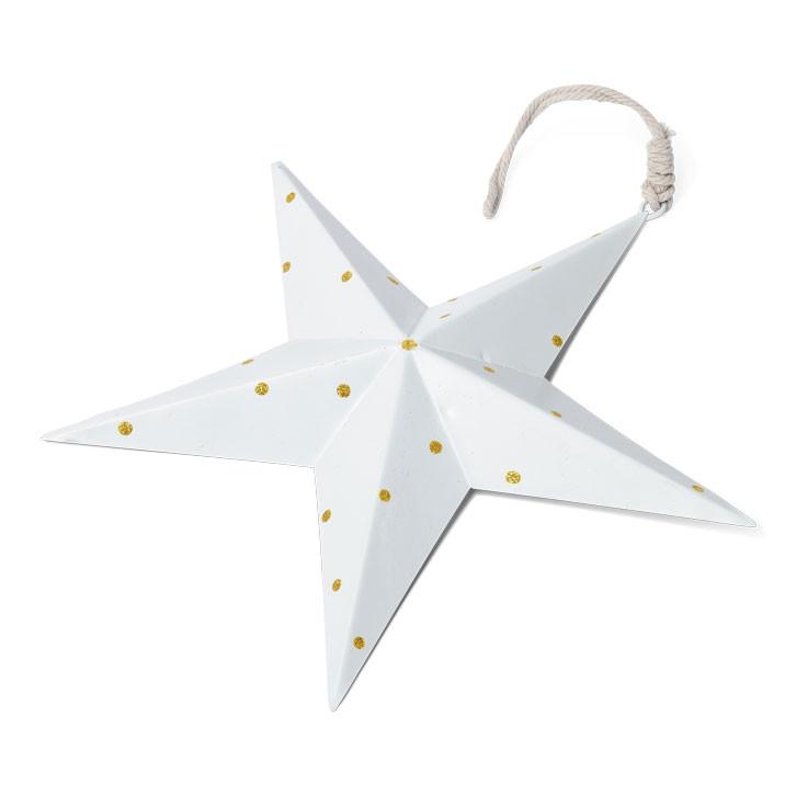 Étoile métallique à pois dorés - 30 cm