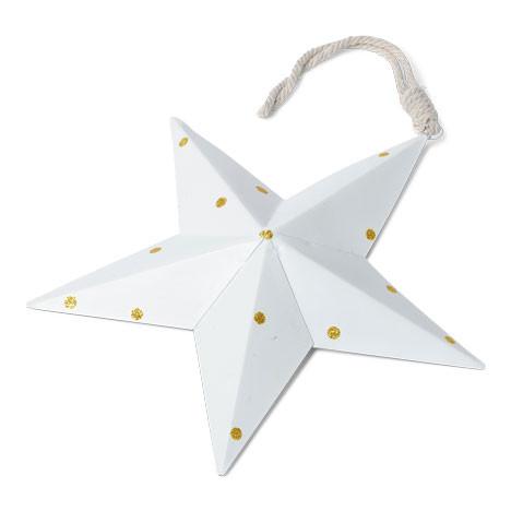 Étoile métallique à pois dorés - 20 cm