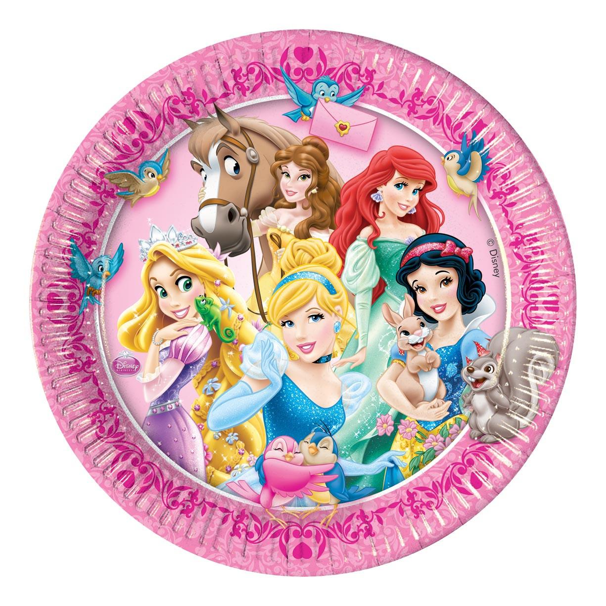 Lot 8 assiettes Princesses Disney Animaux