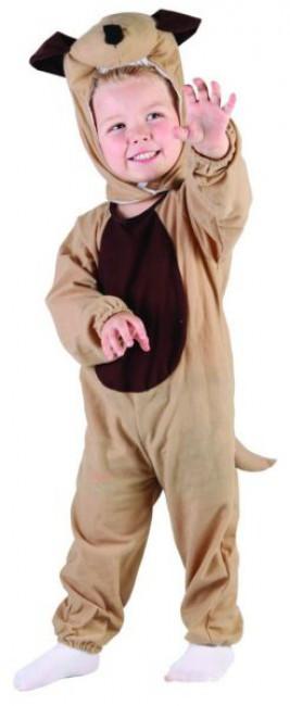 """Costume fille"""" chien beige """" 3/4 ans - 92 - 104 cm"""