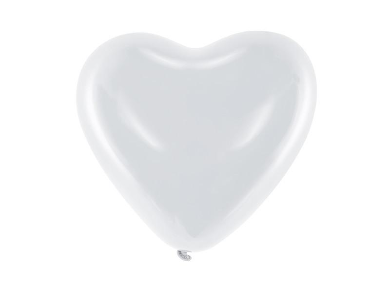 Ballon de Baudruche cœur Blanc x6