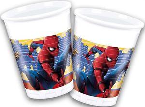 8 gobelets - Spiderman Homecoming