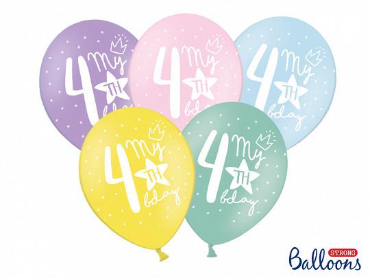 ballon multicolore anniversaire 4 ans