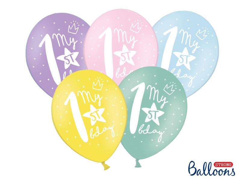 ballon multicolore anniversaire 1 an
