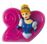 "Bougie Princesse Disney Journey en forme de ""2"""