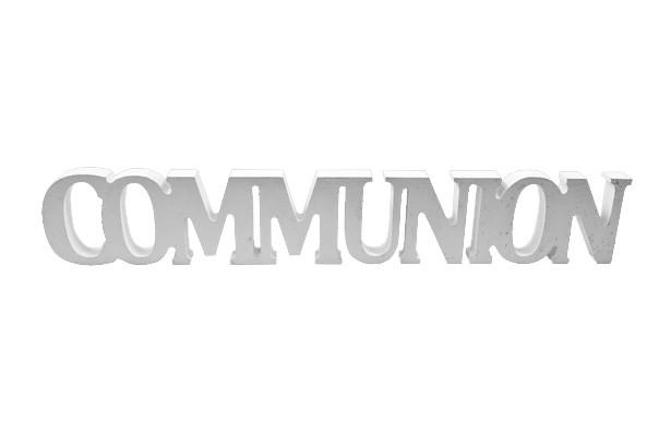 Déco de table communion argent
