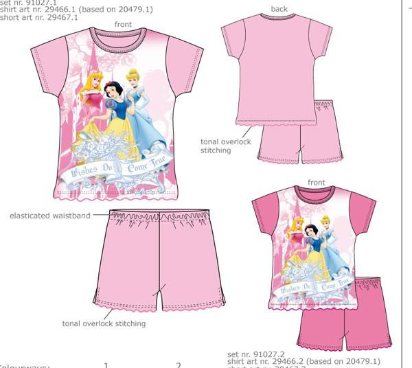 Ensemble pyjama Princesses Disney - fuchsia