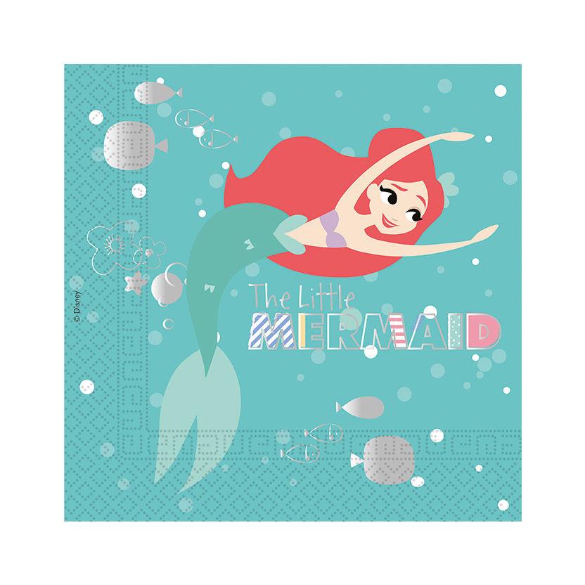 20 serviettes Ariel La petite Sirène