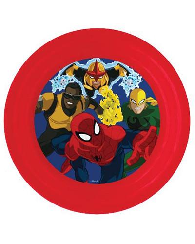 Assiette plate 3D -Spiderman pas chère