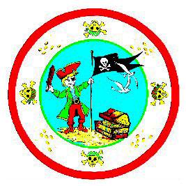 6 Assiettes pirates de 23 cm