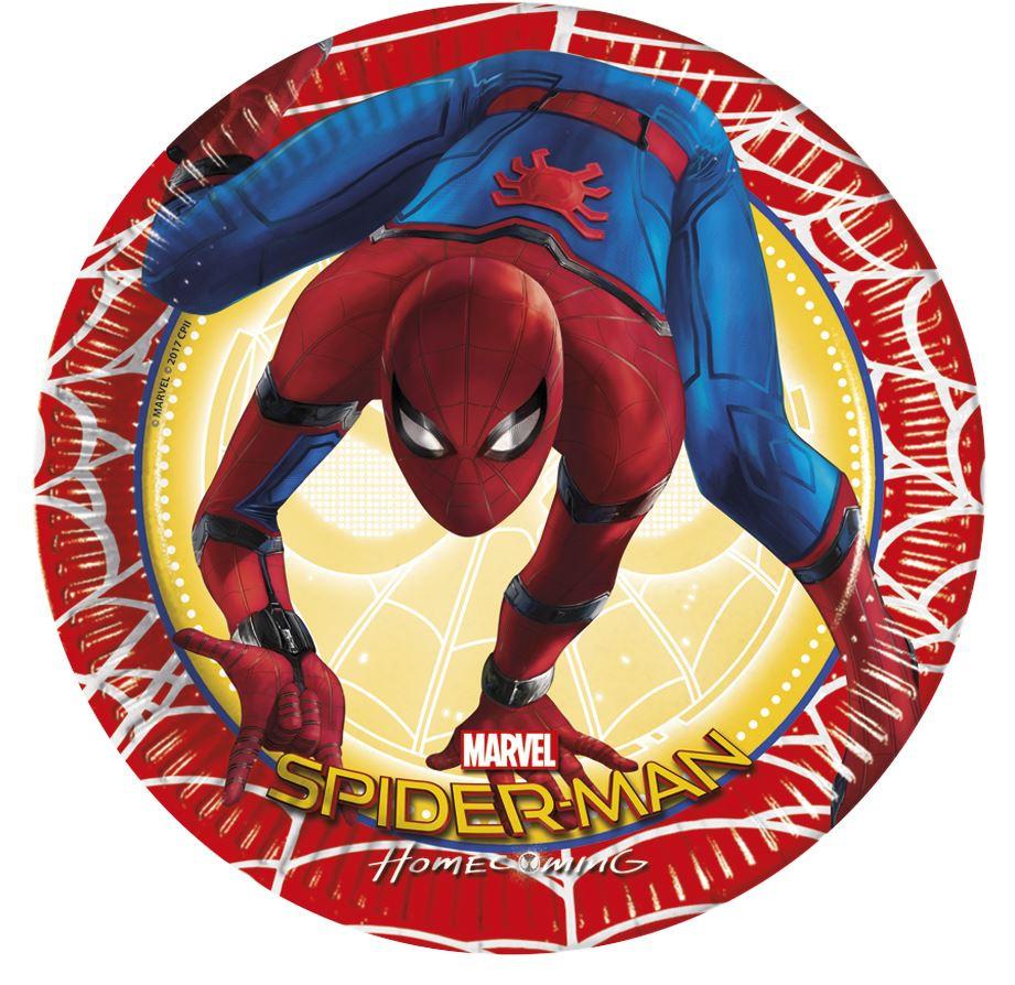 8 assiettes Spiderman homecoming pas chères