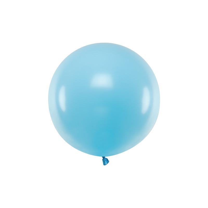 Ballon géant bleu pastel