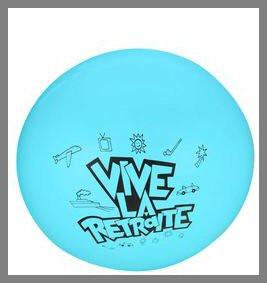 Ballon géant - Vive la retraite - turquoise