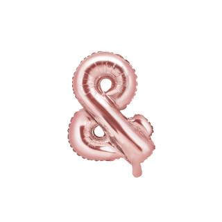 Ballon rose gold lettre & - 36 cm