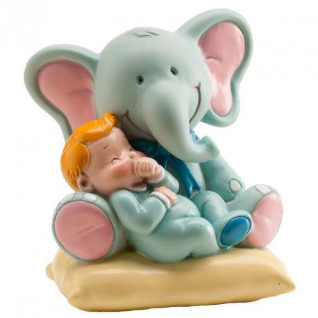 Sujet baptême éléphant bleu