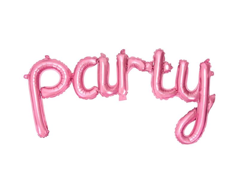 """ballon hélium """"party"""" rose"""