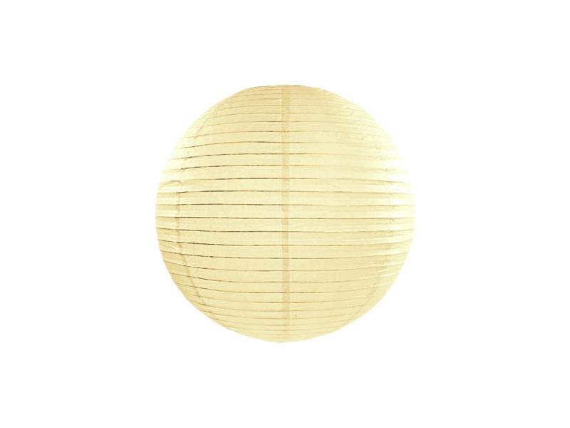 Boule en papier crème 20 cm