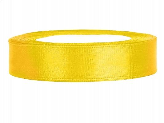 Ruban satin 12 mm - jaune