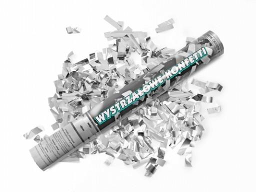 Canon confettis - argent