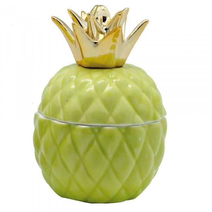 Bonbonnière ananas vert