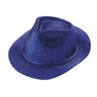 Chapeau paillettes bleu