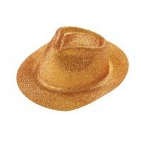 Chapeau paillettes or