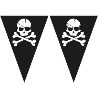 guirlande de fanions pirate tête de mort